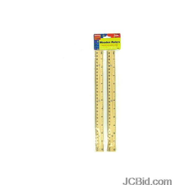 JCBid.com Wooden-Ruler-Set-display-Case-of-72-pieces