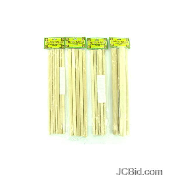 JCBid.com Wooden-Dowel-Craft-Sticks-display-Case-of-84-pieces