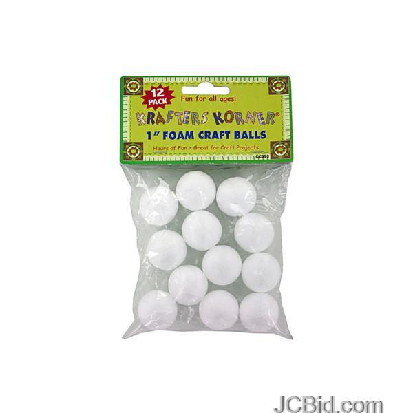 JCBid.com Small-Foam-Craft-Balls-display-Case-of-96-pieces