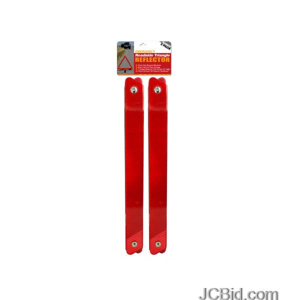 JCBid.com Emergency-Roadside-Reflective-Triangle-Set-display-Case-of-24-pieces