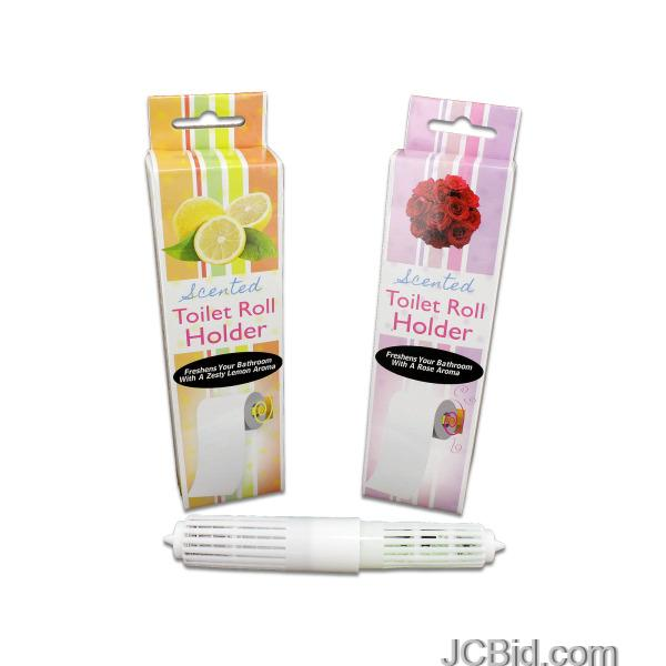 JCBid.com Rose-Scented-Toilet-Paper-Roll-Holder-display-Case-of-72-pieces
