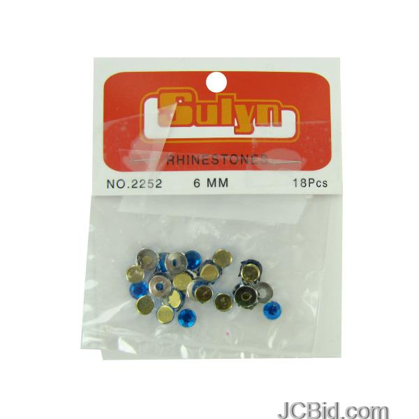 JCBid.com Blue-Rhinestones-with-Mounts-display-Case-of-204-pieces