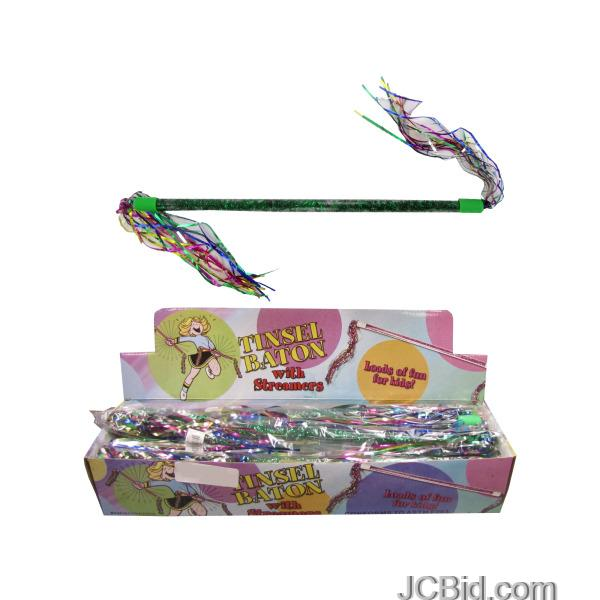 JCBid.com Tinsel-Baton-with-Streamers-Countertop-Display-display-Case-of-72-pieces