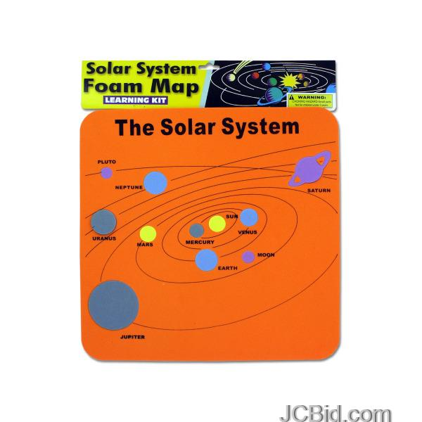 JCBid.com Solar-System-Foam-Map-Learning-Kit-display-Case-of-72-pieces