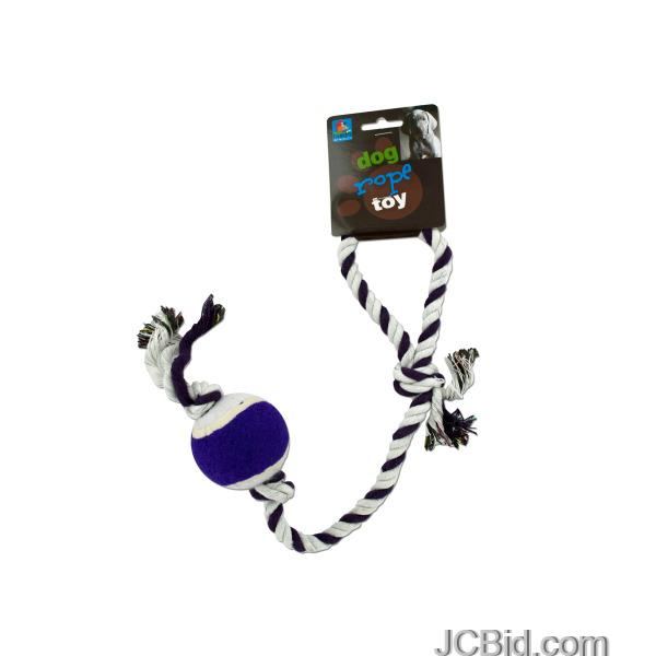 JCBid.com Dog-Rope-Tennis-Ball-Toy-display-Case-of-60-pieces
