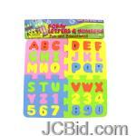 JCBid.com Foam-Letter-amp-Number-Puzzle-display-Case-of-48-pieces
