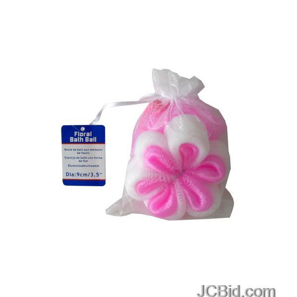 JCBid.com Floral-Shaped-Bath-Scrubber-display-Case-of-96-pieces