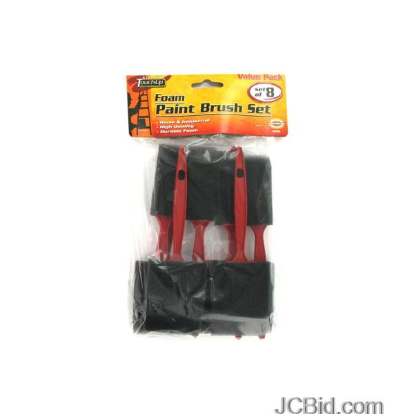 JCBid.com Foam-Paint-Brush-Set-display-Case-of-96-pieces