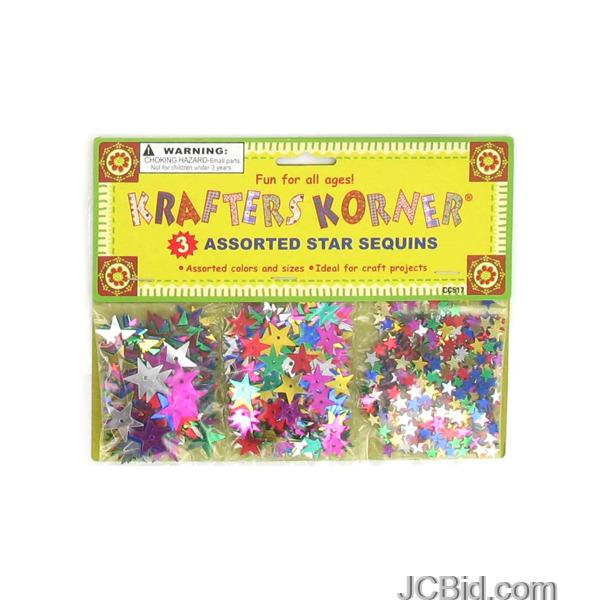 JCBid.com Star-Shaped-Craft-Sequins-display-Case-of-156-pieces