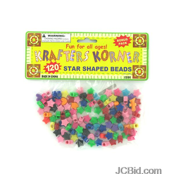 JCBid.com Star-Shaped-Crafting-Beads-display-Case-of-132-pieces