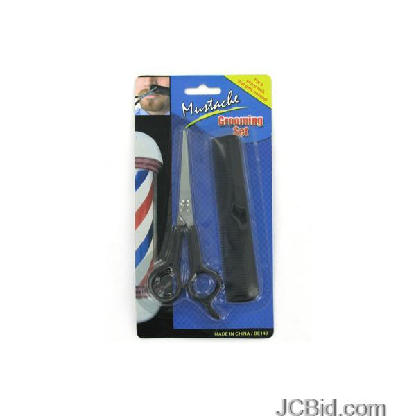 JCBid.com Mustache-amp-Beard-Grooming-Set-display-Case-of-84-pieces