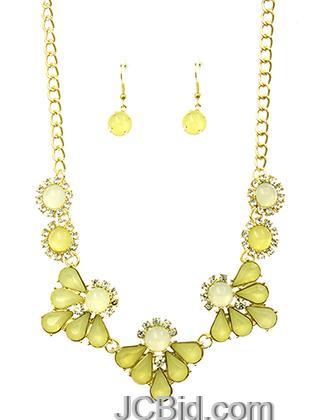 JCBid.com Crystal-Stone-Bib-necklace