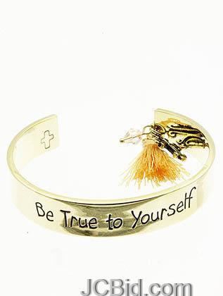JCBid.com Cross-Charm-Yellow-Cuff-Bracelet