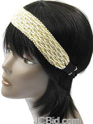 JCBid.com Fancy-Leather-head-band-in-offwhite