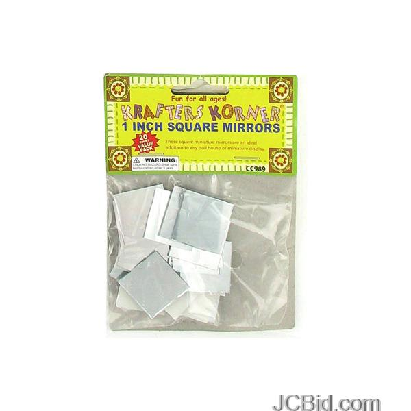 JCBid.com Miniature-Crafting-Mirrors-display-Case-of-84-pieces