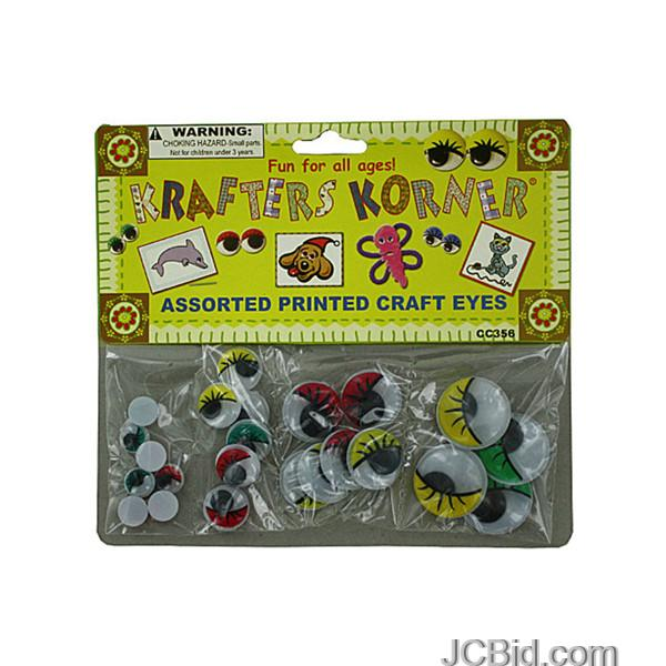 JCBid.com Colored-Wiggly-Printed-Craft-Eyes-display-Case-of-84-pieces