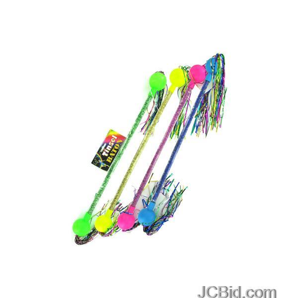 JCBid.com Colorful-Tinsel-Baton-display-Case-of-60-pieces