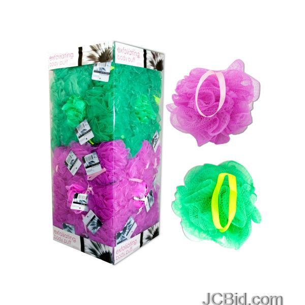 JCBid.com Exfoliating-Body-Puff-Display-display-Case-of-144-pieces