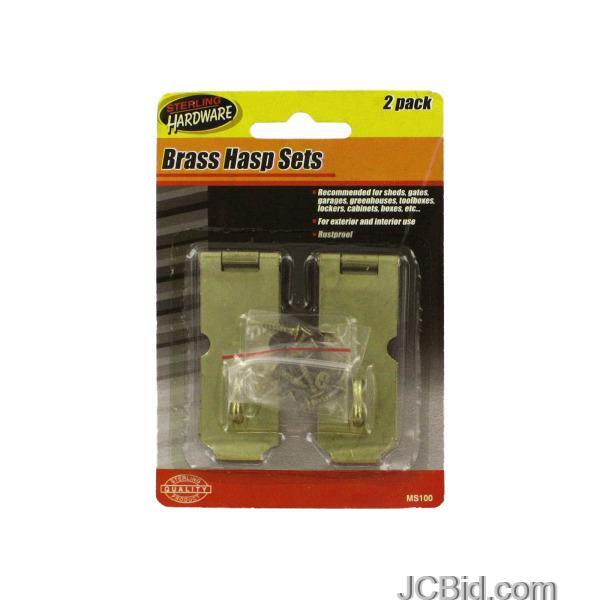 JCBid.com Gold-Tone-Iron-Hasp-Set-display-Case-of-120-pieces