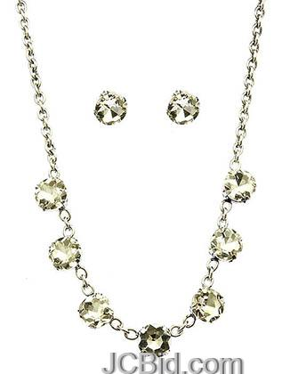 JCBid.com Faceted-Stone-Necklace-and-Earring-set-clear