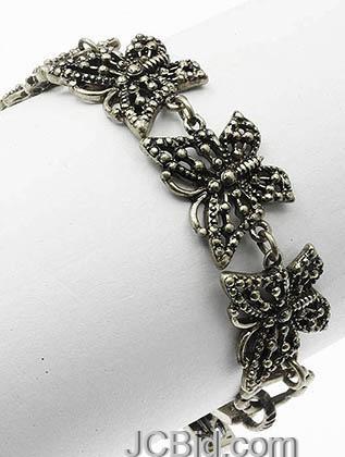 JCBid.com Butterfly-Bracelet-Antique-Silver