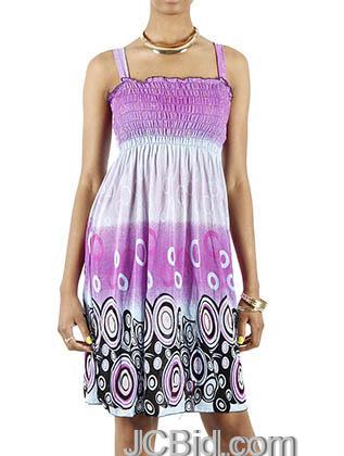 JCBid.com Oval-Print-Sundress-Purple