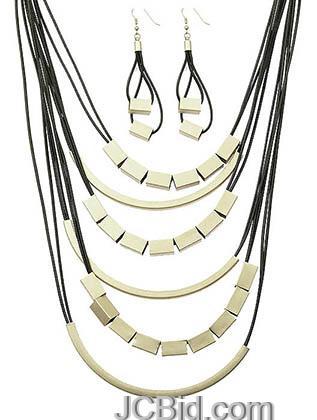 JCBid.com Multi-layer-Cord-Necklace-set