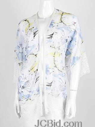 JCBid.com Floral-print-Lace-Cover-up-Blue