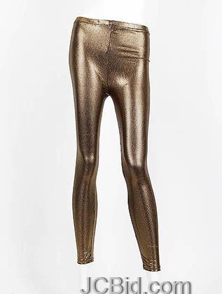 JCBid.com Metallic-Legging-golden