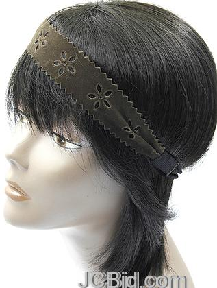 JCBid.com Fancy-Leather-head-band-in-brown