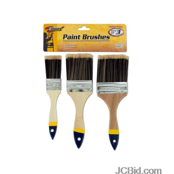 JCBid.com Paint-Brush-Set-with-Wood-Handles-display-Case-of-48-pieces