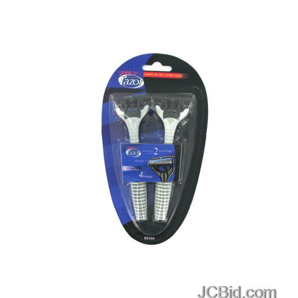 JCBid.com Men039s-Quadruple-Blade-Disposable-Razors-display-Case-of-84-pieces