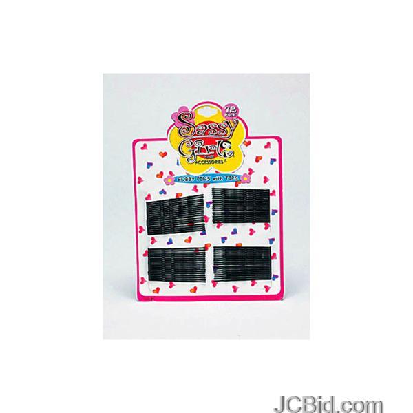 JCBid.com Black-Bobby-Pin-Set-display-Case-of-96-pieces