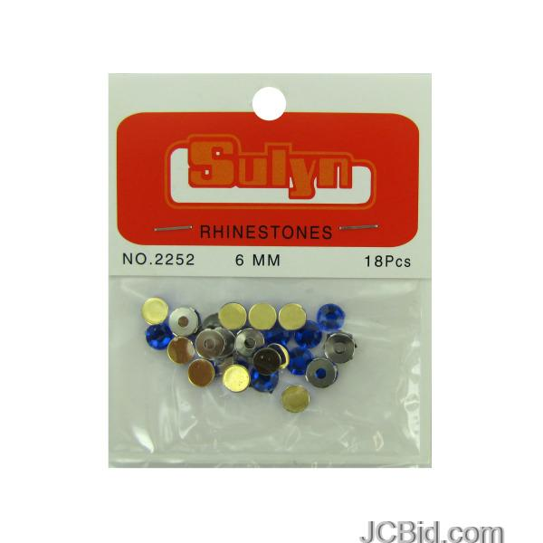 JCBid.com Sapphire-Rhinestones-with-Mounts-display-Case-of-228-pieces