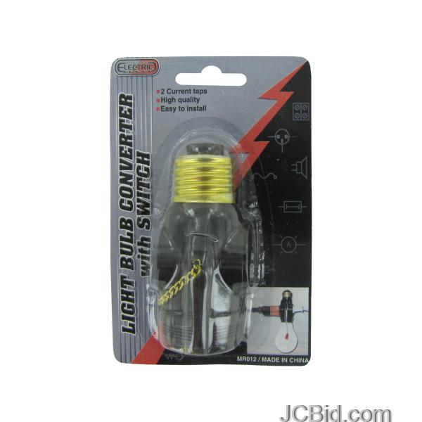 JCBid.com Light-Bulb-Converter-with-Switch-display-Case-of-60-pieces