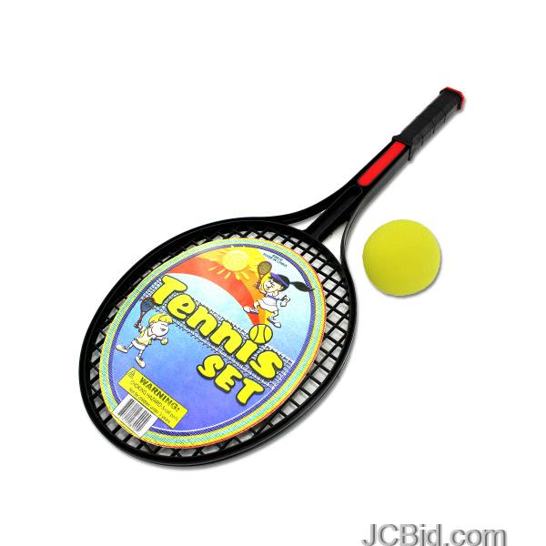 JCBid.com Tennis-Racquet-Set-with-Foam-Ball-display-Case-of-60-pieces
