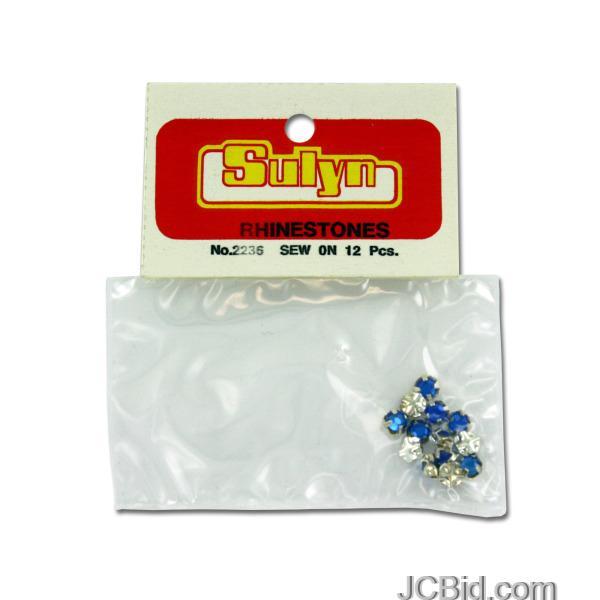 JCBid.com Sew-On-Blue-Rhinestones-display-Case-of-216-pieces