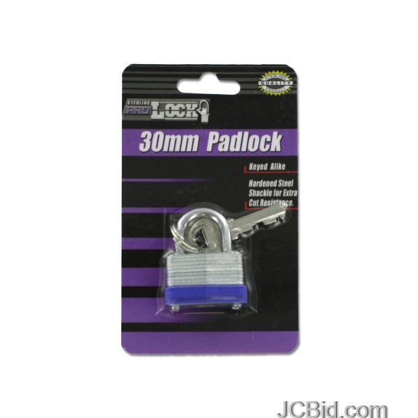 JCBid.com Short-Shackle-Padlock-with-Keys-display-Case-of-60-pieces