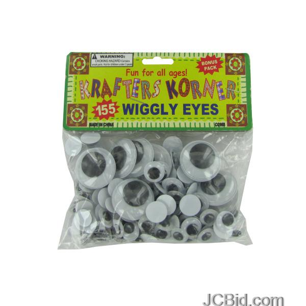 JCBid.com Plastic-Craft-Wiggly-Eyes-display-Case-of-84-pieces