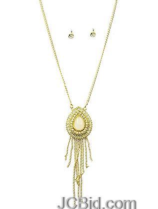 JCBid.com Teardrop-Pendant-Necklace-Set