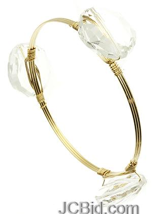 JCBid.com Wired-white-Stone-Bracelet