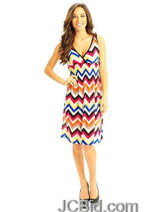 JCBid.com Orange-Chevron-sundress-Size-L