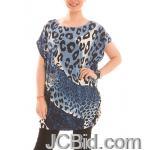 JCBid.com Loose-Top-with-Leopard-Print-Blue