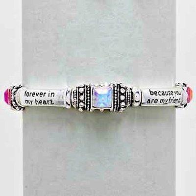 JCBid.com Sister-Blessing-Bracelet-with-Colored-gems