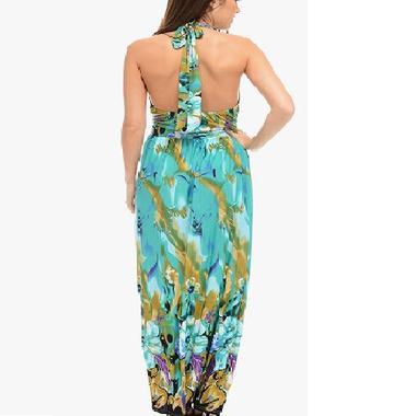 JCBid.com Halter-Top-Green-Maxi-dress