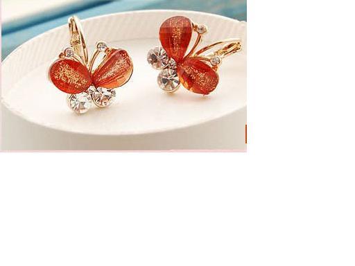 JCBid.com -Butterfly-Rhinestone-Earring-Choose-from-2-colors